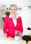 Businesswoman Preparing Breakfast