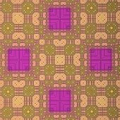 Retro Pattern Magenta Yellow Green
