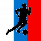 Soccer Player Represents Russian Football And Game