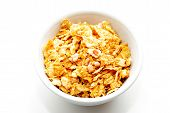 Healthy Yogurt Cereal Made Of Corn Flakes And Oats