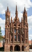 Gothic Style St. Anne Church In Vilnius, Lithuania