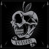 Poison Apple Skull