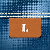 L size clothing label - vector illustration