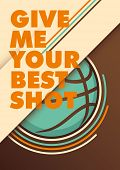 Modern basketball poster. Vector illustration.