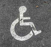 Disabled Parking Permit Sign On The Street