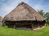Typical old style Polish thatched cottage