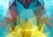 Polygon Semi-symmetric Background