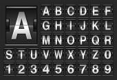 Scoreboard alphabet.