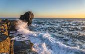 Pulpit Rock In Stormy Seas