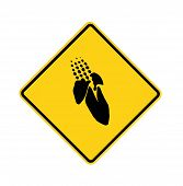 Road Sign - Yellow - Corn