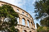 Roman Coloseum In Pula, Croatia.