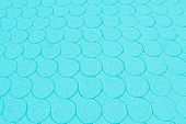 Turquoise Background With Fish-scale Pattern