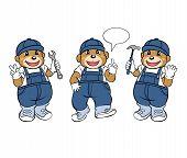 Bear Mechanic Mascot