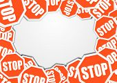 detailed illustration of a stop sign background with blank space, eps10 vector