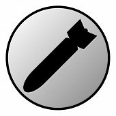 stock photo of bombshell  - Bomb button on white background - JPG