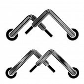 vector shoe lace mountain walking symbols
