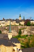 Luxemburg view from high point on city wall