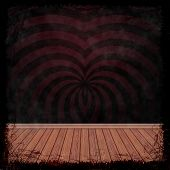 Dark Grunge Background. Abstract Vintage Texture With Frame And Border.
