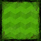 Green Grunge Background. Abstract Vintage Texture With Frame And Border.