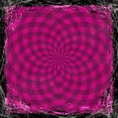 Pink, Violet, Purple Grunge Background. Abstract Vintage Texture With Frame And Border.