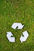 Recycling Sign On Grass