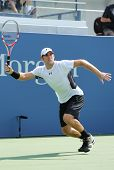Professional tennis player Robby Ginepri during qualifying match match at US Open 2013