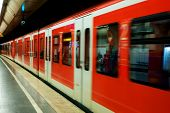 Munchen subway in motion