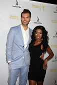LOS ANGELES - AUG 12:  A.J. Gibson, Porscha Coleman at the Dynamic & Diverse:  A 66th Emmy Awards Celebration of Diversity Event at Television Academy on August 12, 2014 in North Hollywood, CA
