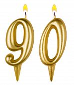 Birthday Candles Number Ninety