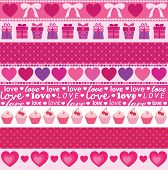 collection of vector valentine's ornaments