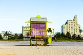 Life Guard Tower On South Beach, Miami