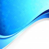 Blue Abstract Cell Background With Border Element