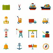 Seaport Flat Icon