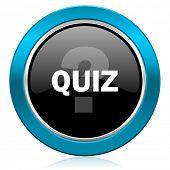 quiz glossy icon
