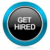 get hired glossy icon