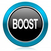 boost glossy icon