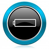 battery glossy icon charging symbol power sign