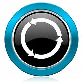 refresh glossy icon reload glossy icon