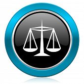 justice glossy icon law sign