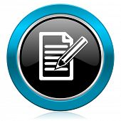 subscribe glossy icon write sign
