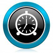 alarm glossy icon alarm clock sign