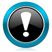 exclamation sign glossy icon warning sign