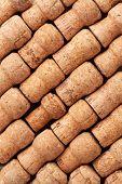 Champagne wine corks texture background