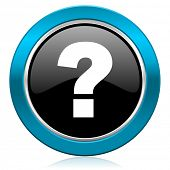 question mark glossy icon ask sign