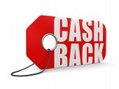 Label cash back (clipping path included)