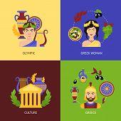 Greece flat set