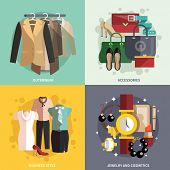 Clothes Icons Flat