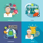 Tennis flat set