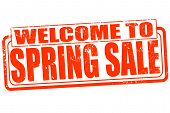 Welcome To Spring Sale Stamp