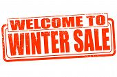 Welcome To Winter Sale Stamp